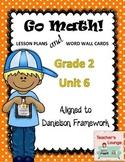 Go Math Lesson Plans Unit 6 - Word Wall Cards - EDITABLE - Grade 2