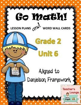 Go Math Lesson Plans Unit 6 - Word Wall Cards - EDITABLE -