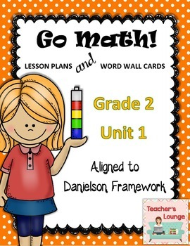 Go Math Lesson Plans Unit 1 - Word Wall Cards - EDITABLE - Grade 2