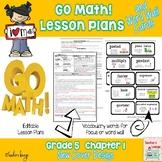 Go Math Lesson Plans Unit 1 - Word Wall Cards - EDITABLE - Grade 5