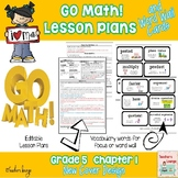 Go Math Lesson Plans Unit 1 - Word Wall Cards - EDITABLE -