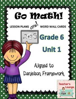 Go Math Lesson Plans Unit 1 - Word Wall Cards - EDITABLE - Grade 6