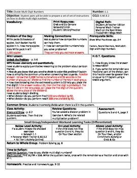 Go Math Lesson Plans Unit 1 - Word Wall Cards - EDITABLE - Grade 6