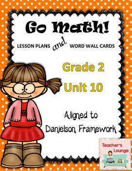 Go Math Lesson Plans  Unit 10 - Word Wall Cards - EDITABLE - Grade 2