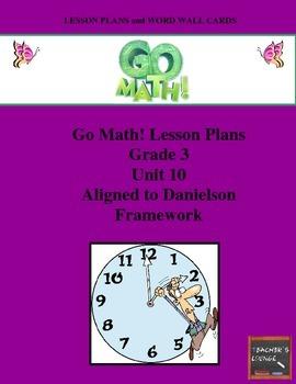 Go Math Lesson Plans Unit 10 - Word Wall Cards - EDITABLE