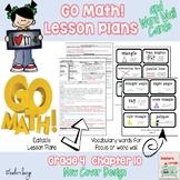 Go Math Lesson Plans Unit 10 - Word Wall Cards - EDITABLE - Grade 4