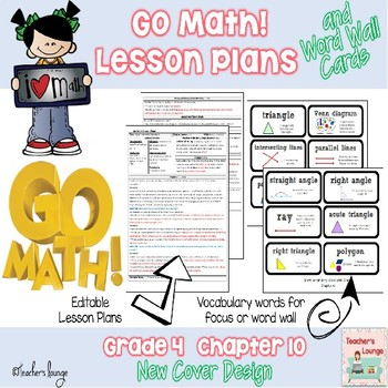 Go Math Lesson Plans Unit 10 - Word Wall Cards - EDITABLE