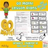 Go Math Lesson Plans Unit 10 - Word Wall Cards - EDITABLE - Grade 5