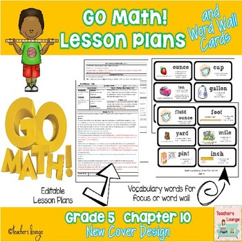 Go Math Lesson Plans Unit 10 - Word Wall Cards - EDITABLE - Grade 5