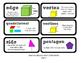 Go Math Lesson Plans  Unit 11 - Word Wall Cards - EDITABLE