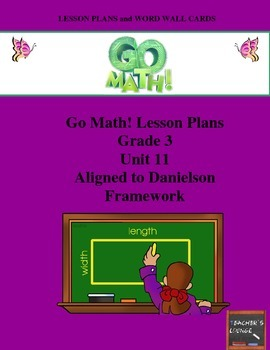 Go Math Lesson Plans Unit 11 - Word Wall Cards - EDITABLE - Grade 3