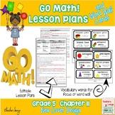 Go Math Lesson Plans Unit 11 - Word Wall Cards - EDITABLE - Grade 5