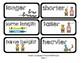 Go Math Lesson Plans Unit 11 - Word Wall Cards - EDITABLE - KINDERGARTEN