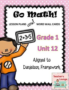 Go Math Lesson Plans Unit 12 - Word Wall Cards - EDITABLE - Grade 1