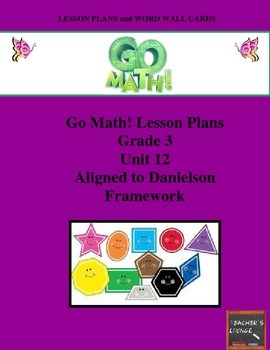 Go Math Lesson Plans Unit 12 - Word Wall Cards - EDITABLE