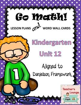 Go Math Lesson Plans Unit 12 - Word Wall Cards - EDITABLE - KINDERGARTEN