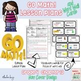 Go Math Lesson Plans Unit 13- Word Wall Cards - EDITABLE - Grade 4