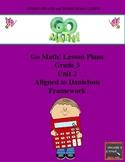 Go Math Lesson Plans Unit 2 - Word Wall Cards - EDITABLE - Grade 3
