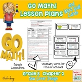 Go Math Lesson Plans Unit 2 - Word Wall Cards - EDITABLE - Grade 5