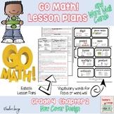 Go Math Lesson Plans Unit 2 - Word Wall Cards - EDITABLE - Grade 4