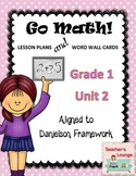 Go Math Lesson Plans Unit 2 - Word Wall Cards - EDITABLE - Grade 1