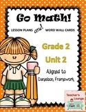 Go Math Lesson Plans Unit 2 - Word Wall Cards - EDITABLE - Grade 2
