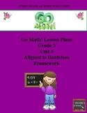 Go Math Lesson Plans Unit 3 - Word Wall Cards - EDITABLE - Grade 3