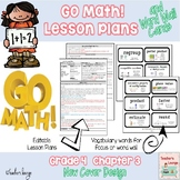 Go Math Lesson Plans Unit 3 - Word Wall Cards - EDITABLE - Grade 4