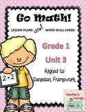 Go Math Lesson Plans Unit 3 - Word Wall Cards - EDITABLE - Grade 1