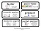 Go Math Lesson Plans Unit 4 - Word Wall Cards - EDITABLE - Grade 4