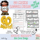 Go Math Lesson Plans Unit 4 - Word Wall Cards - EDITABLE - Grade 4