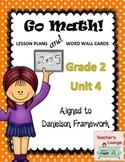 Go Math Lesson Plans Unit 4 - Word Wall Cards - EDITABLE - Grade 2