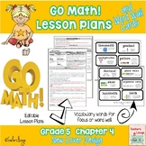 Go Math Lesson Plans Unit 4 - Word Wall Cards - EDITABLE - Grade 5