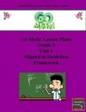 Go Math Lesson Plans Unit 5 - Word Wall Cards - EDITABLE - Grade 3