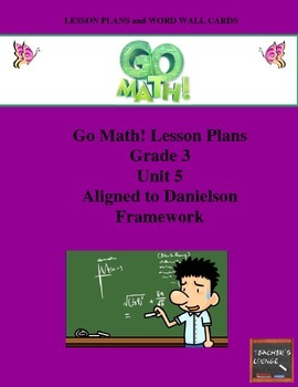 Go Math Lesson Plans Unit 5 - Word Wall Cards - EDITABLE - Grade 3