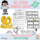 Go Math Lesson Plans Unit 5 - Word Wall Cards - EDITABLE -