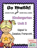 Go Math Lesson Plans Unit 5 - Word Wall Cards - EDITABLE - KINDERGARTEN