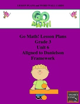 Go Math Lesson Plans Unit 6 - Word Wall Cards - EDITABLE - Grade 3