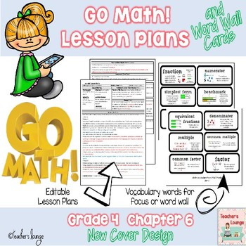 Go Math Lesson Plans Unit 6 - Word Wall Cards - EDITABLE -