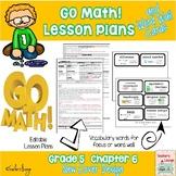 Go Math Lesson Plans Unit 6 - Word Wall Cards - EDITABLE - Grade 5