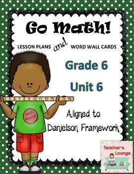 Go Math Lesson Plans Unit 6 - Word Wall Cards - EDITABLE - Grade 6