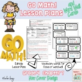 Go Math Lesson Plans Unit 7 - Word Wall Cards - EDITABLE - Grade 4
