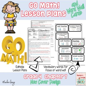 Go Math Lesson Plans Unit 7 - Word Wall Cards - EDITABLE - Grade 4