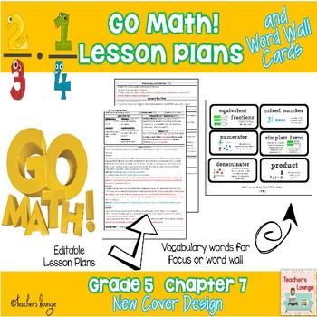Go Math Lesson Plans Unit 7 - Word Wall Cards - EDITABLE -