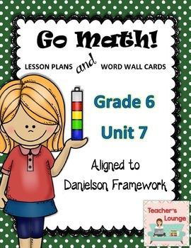 Go Math Lesson Plans Unit 7 - Word Wall Cards - EDITABLE - Grade 6