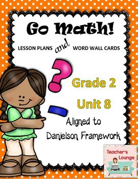 Go Math Lesson Plans  Unit 8 - Word Wall Cards - EDITABLE
