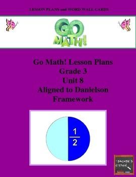 Go Math Lesson Plans Unit 8 - Word Wall Cards - EDITABLE - Grade 3