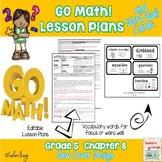 Go Math Lesson Plans Unit 8 - Word Wall Cards - EDITABLE - Grade 5