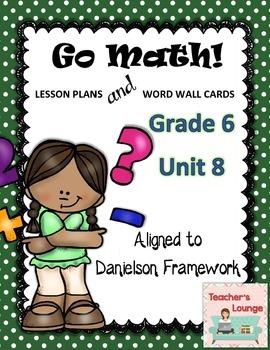Go Math Lesson Plans Unit 8 - Word Wall Cards - EDITABLE - Grade 6