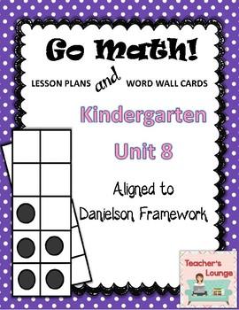 Go Math Lesson Plans Unit 8 - Word Wall Cards - EDITABLE -